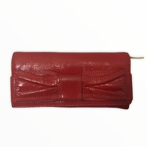 Kate spade red patent leather bow wallet